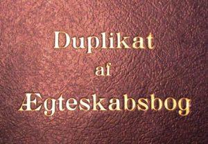 Ægteskabsbog fra 1940´erne. Foto: www.genealogi-syd.dk, 2016.